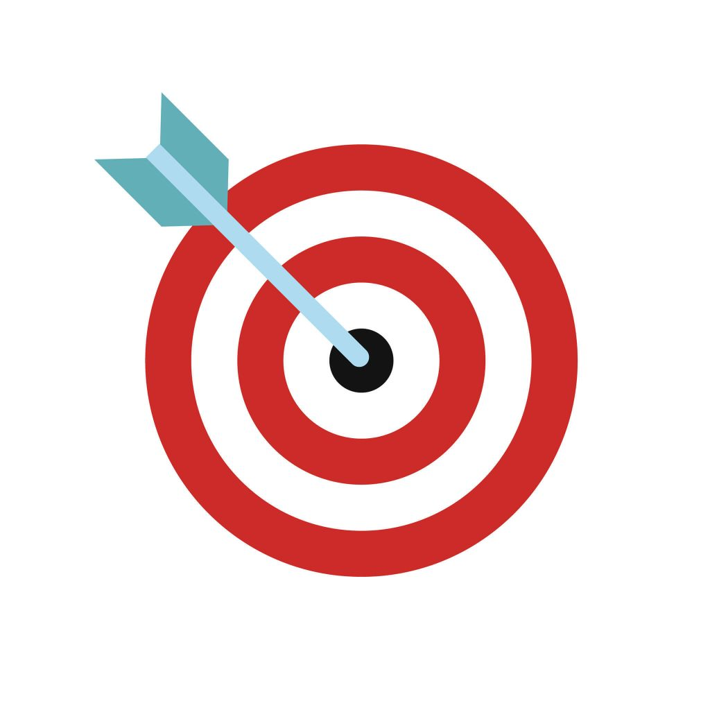 Target Bullseye for Competitor Analysis Concept